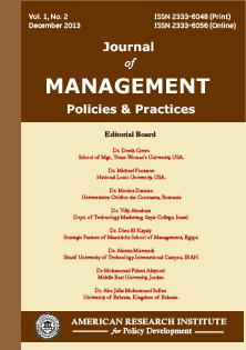 Journal of Management Policies and Practices (JMPP)